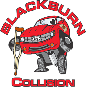 Red logo of Blackburn Collision Center